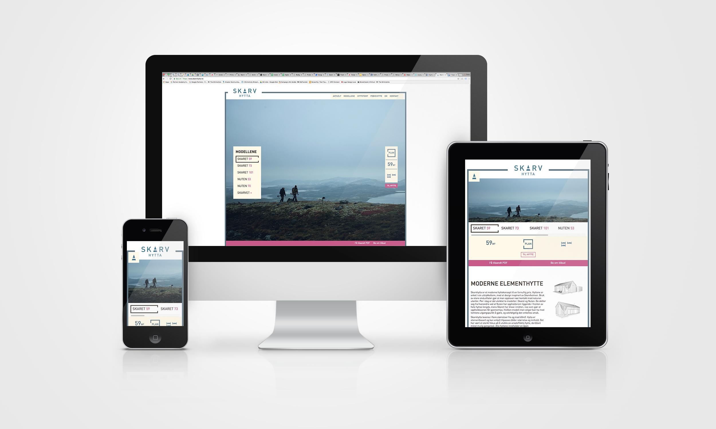 Skarvhytta – en enkel og smidig nettside
